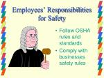 employees responsibilities for safety