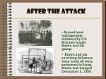 after the attack