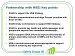 partnership with hse key points
