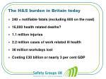 the h s burden in britain today