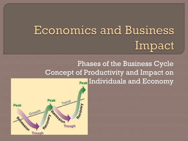 economics and business impact n.