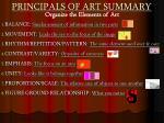 principals of art summary