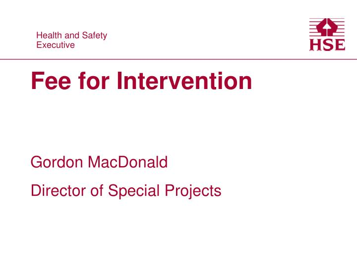 fee for intervention n.