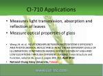 ci 710 applications