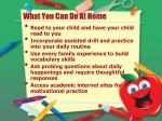 what you can do at home