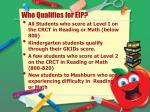 who qualifies for eip