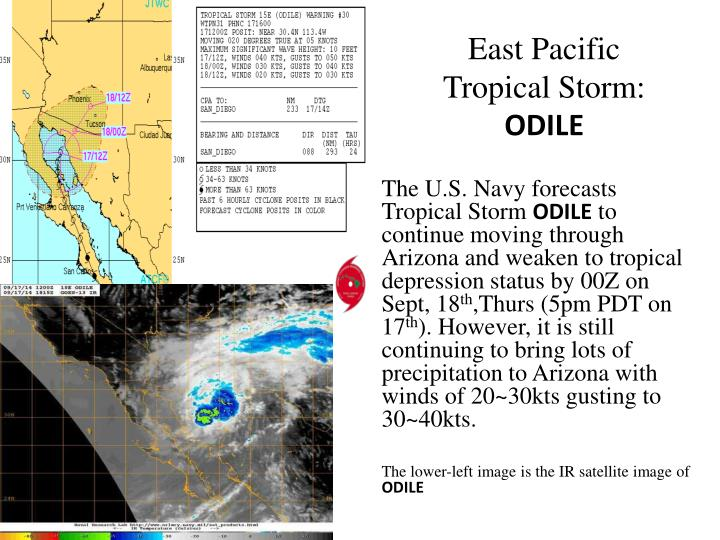 east pacific tropical storm odile n.