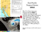 east pacific tropical storm odile