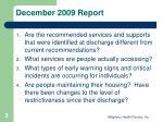 december 2009 report