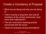 create a constancy of purpose