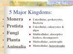 5 major kingdoms