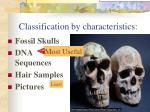 classification by characteristics