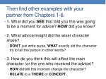 then find other examples with your partner from chapters 1 6