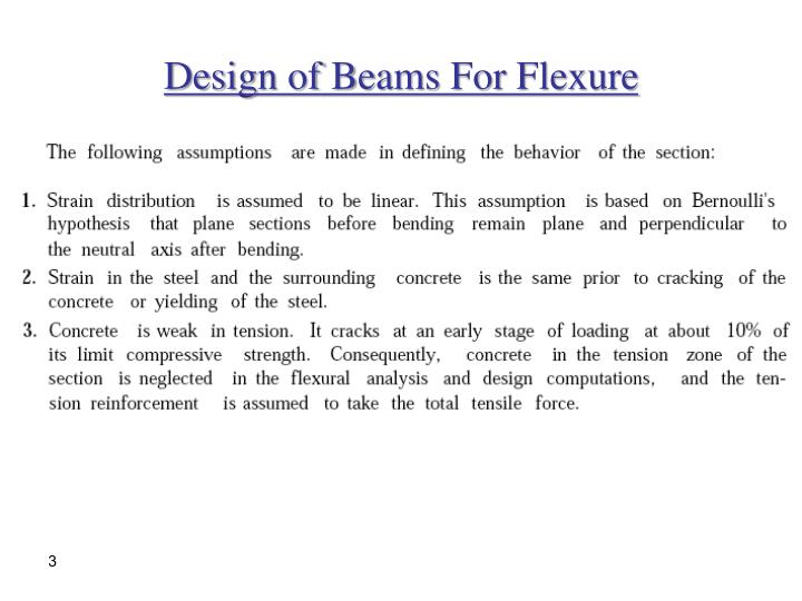 Design of beams for flexure1