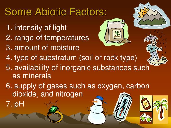 Some Abiotic Factors: