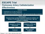 escape trial pulmonary artery catheterization effectiveness