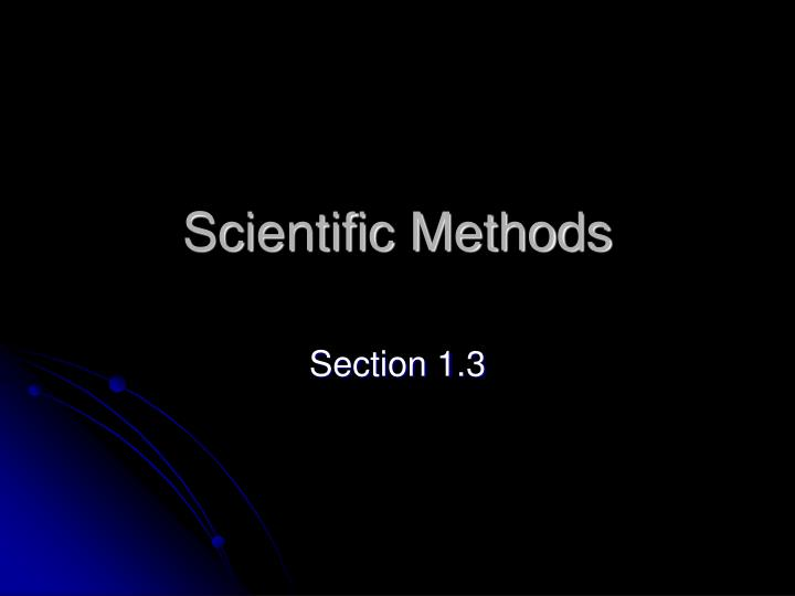 scientific methods n.
