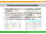 existing infrastructure facilities