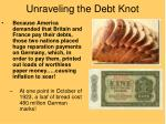 unraveling the debt knot