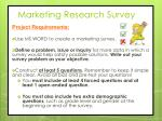 marketing research survey1