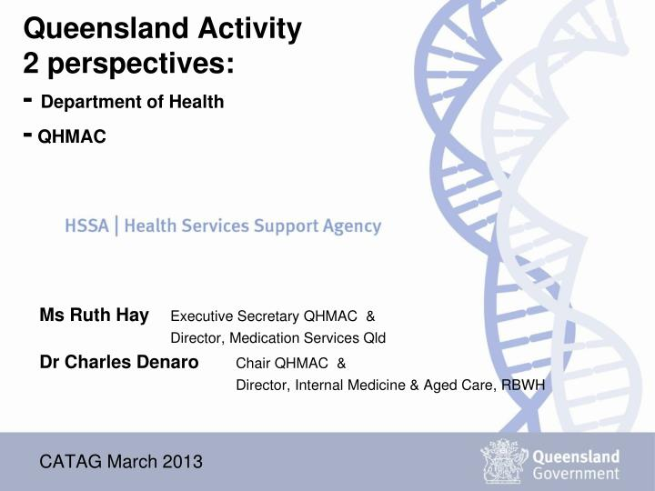 queensland activity 2 perspectives department of health qhmac n.