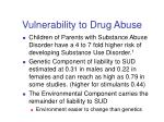 vulnerability to drug abuse