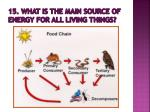 15 what is the main source of energy for all living things