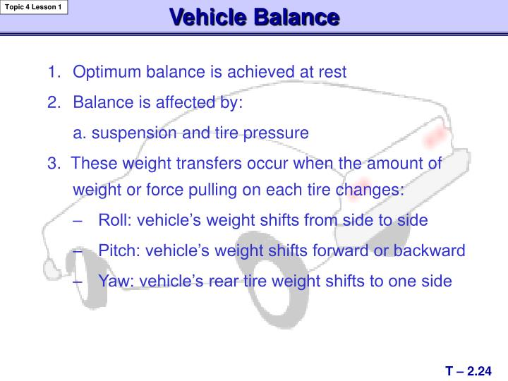 Vehicle Balance