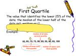 first quartile