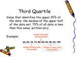 third quartile