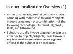 in door localization overview 1