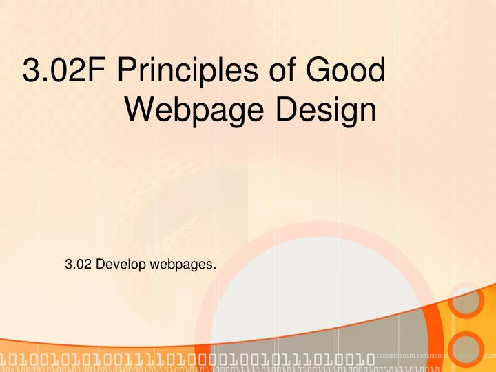 3 02f principles of good webpage design n.