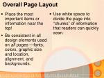 overall page layout