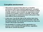 corruptive environment