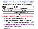 double precision fl pt representation