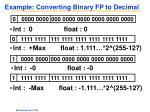 example converting binary fp to decimal