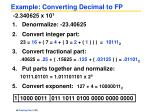 example converting decimal to fp