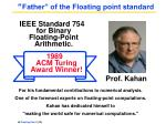father of the floating point standard