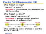 floating point representation 2 2