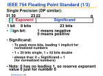 ieee 754 floating point standard 1 3
