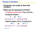 review of numbers