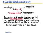 scientific notation in binary