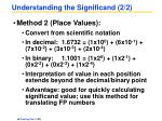 understanding the significand 2 2