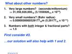 what about other numbers