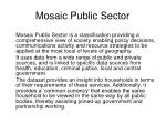 mosaic public sector
