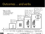 outcomes and verbs