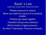 boyle s law explained using kinetic molecular theory