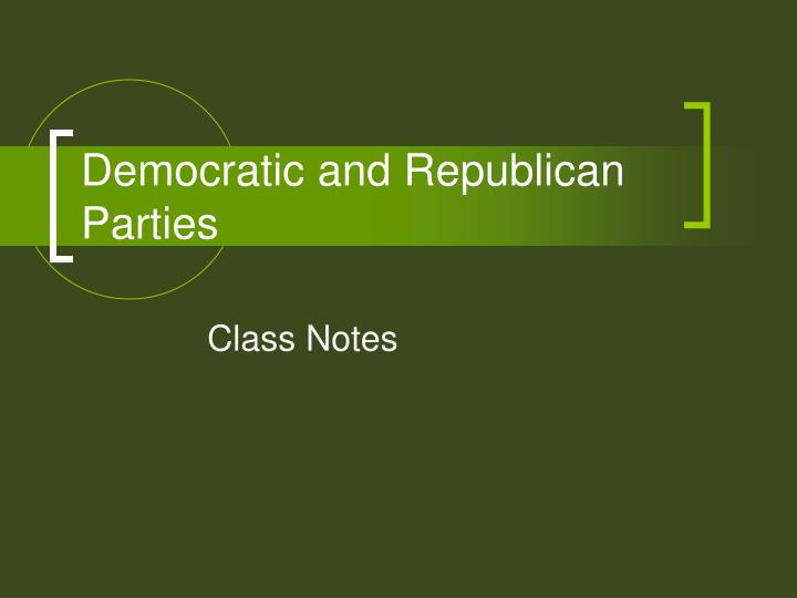 democratic and republican parties n.