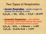 two types of respiration