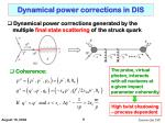 dynamical power corrections in dis